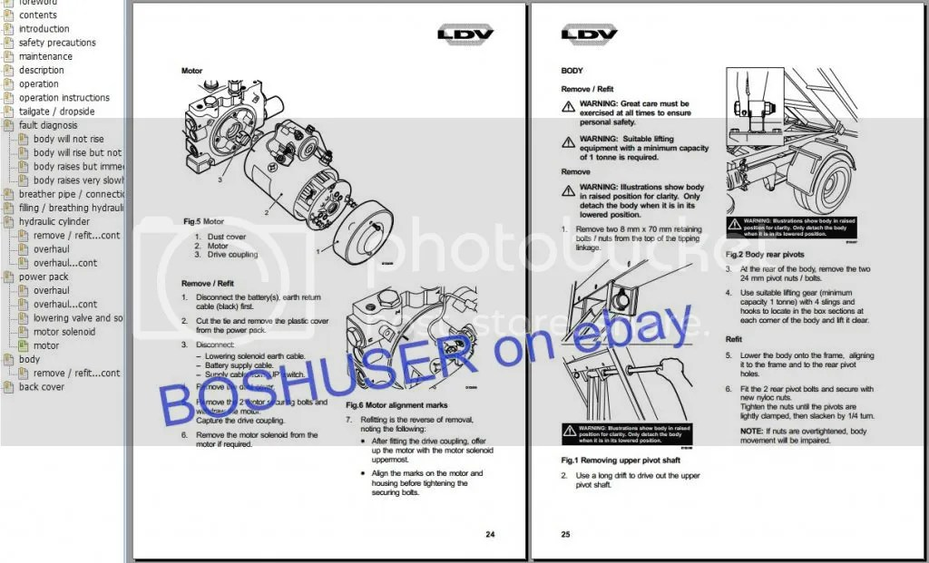 LDV CONVOY PILOT WORKSHOP REPAIR SERVICE MANUAL & WIRING