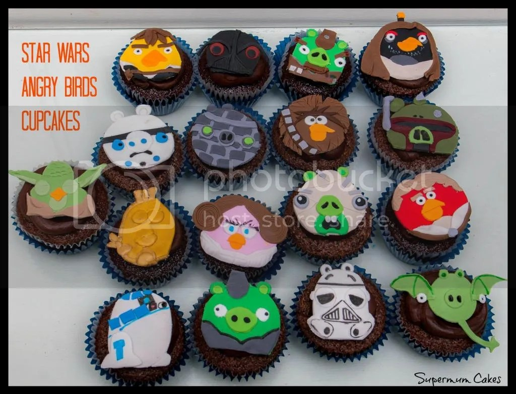 Star Wars Angry Birds Cupcakes By Supermum Cakes Photo By