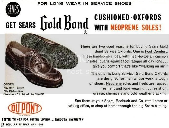 c4846fc7d3c3 1960s Gold Bond Service Shoe by Sears