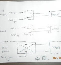 if you run a pair of wires from the dash to the selector valce you can just use a double pole single throw switch here is my crude drawing for wiring a  [ 1024 x 768 Pixel ]