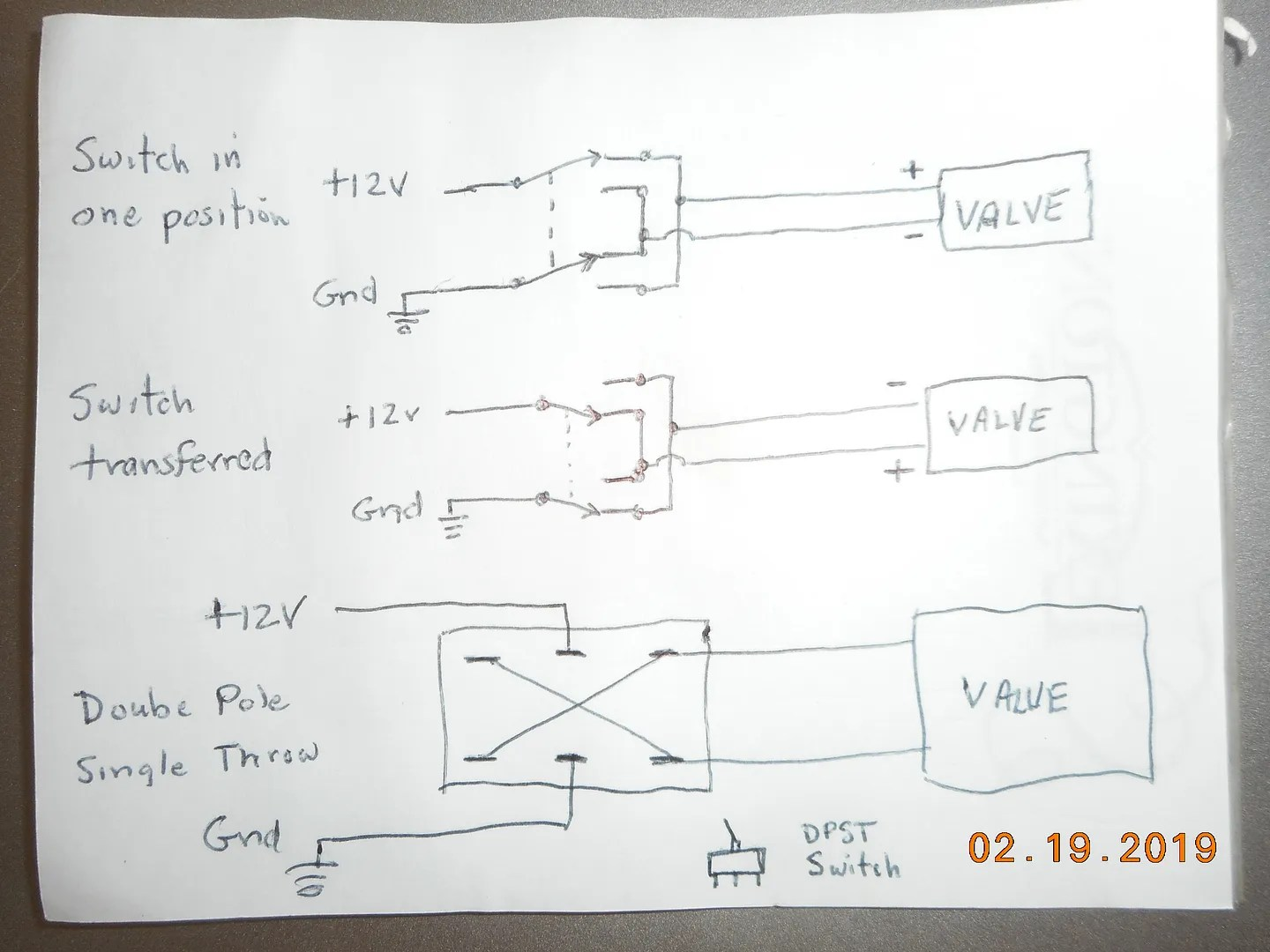 hight resolution of if you run a pair of wires from the dash to the selector valce you can just use a double pole single throw switch here is my crude drawing for wiring a