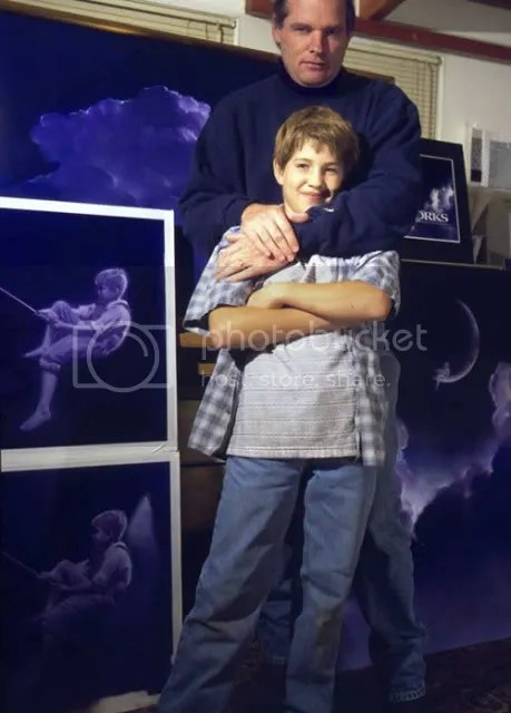 Robert Hunt bersama Putranya William
