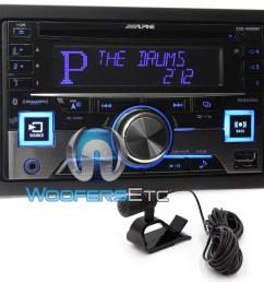 alpine cde w265bt in dash double din cd mp3 usb ipod car stereo radio bluetooth ebay [ 1000 x 941 Pixel ]