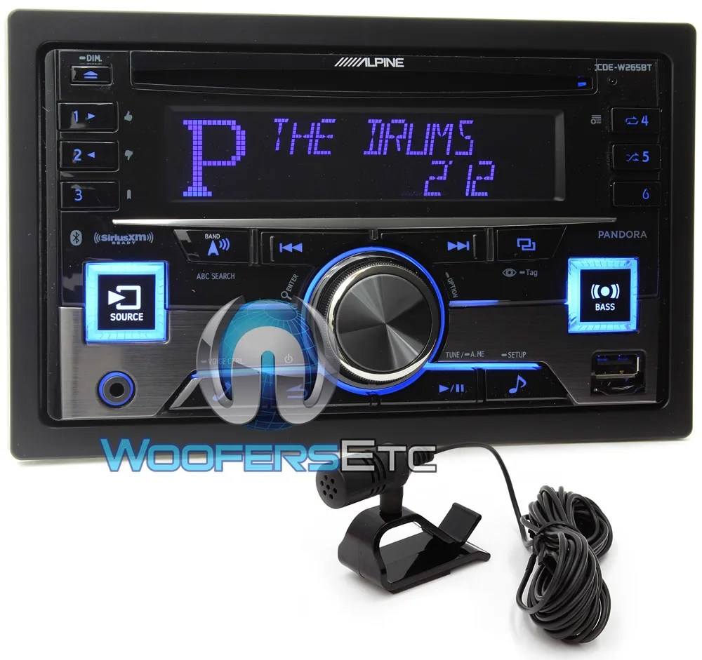 hight resolution of alpine cde w265bt in dash double din cd mp3 usb ipod car stereo radio bluetooth ebay