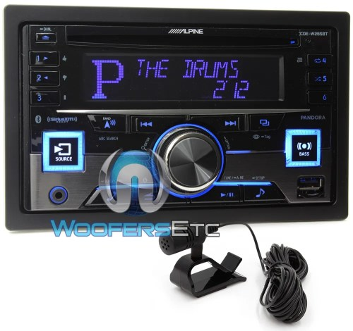 small resolution of alpine cde w265bt in dash double din cd mp3 usb ipod car stereo radio bluetooth ebay