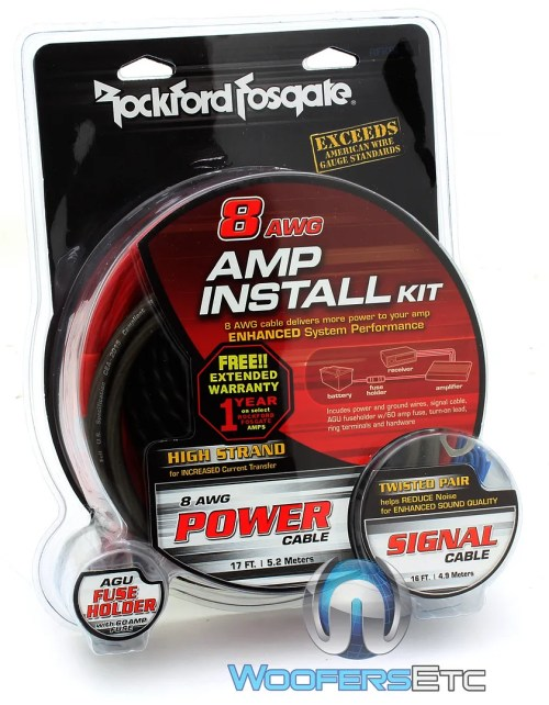 small resolution of details about rockford fosgate rfk8i 8 gauge car audio subwoofer speaker amplifier wiring kit