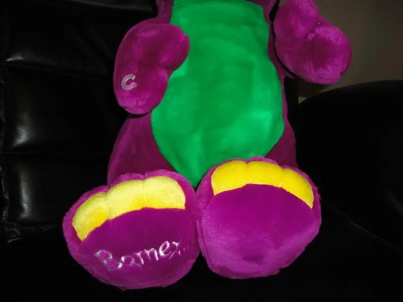 JUMBO 2 FEET Tall BARNEY Purple Dinosaur Plush Toy  Jadees Antique Bear Shoppe
