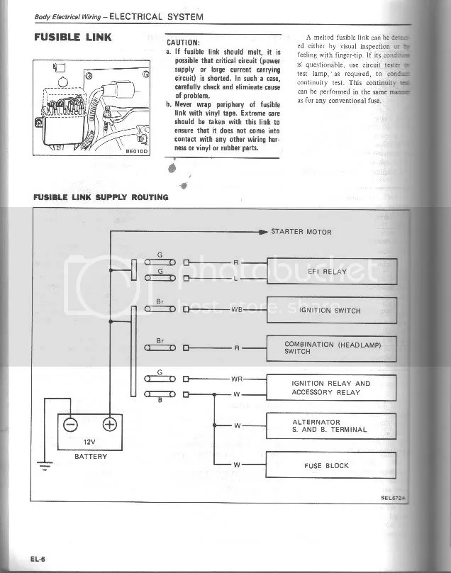280zx Alternator Wiring Diagram Need Help With Fusible Links S130 Series 280zx