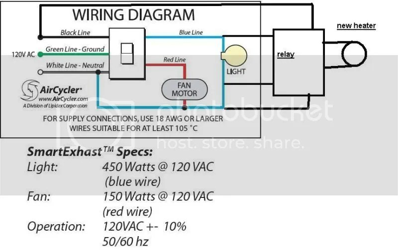 Wiring Diagram Bathroom Fan Light Heater