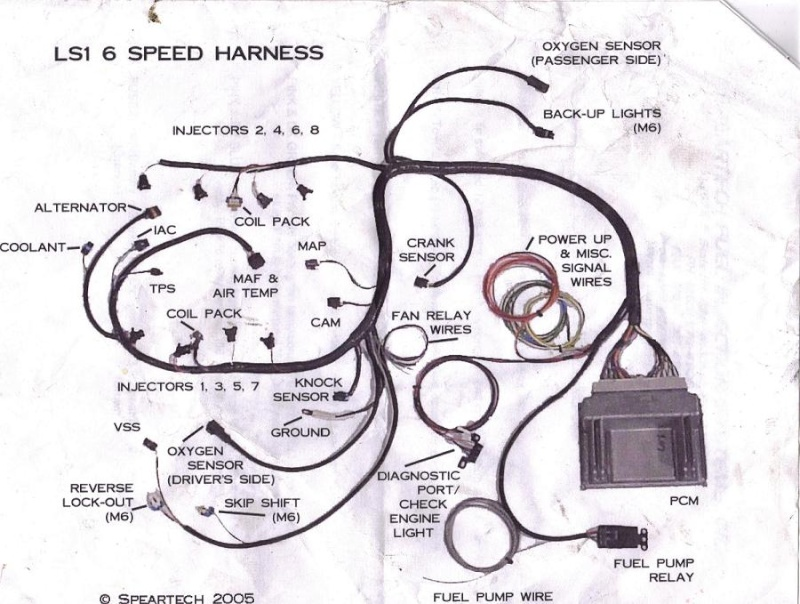 lt1 wiring harness diagram 94 s10 headlight fan control relay