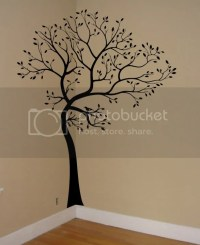 LARGE TREE BROWN-GREEN WALL DECAL Art Sticker Mural | eBay