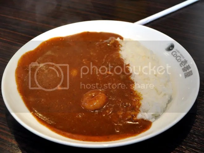 Half-plate of ebi curry. level 10