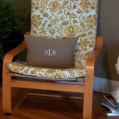 Ikea Poang Chair Cover Metal And Leather Dining Make A Replacement For An Bystephanielynn