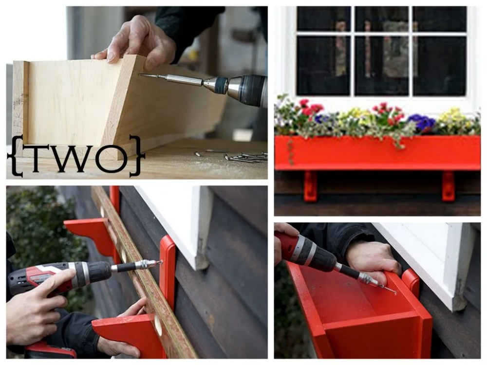 medium resolution of add a splash of color to your window sills with these painted wooden window boxes from popular mechanic the box itself is a basic trough design supported