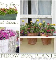 ten diy window box planter ideas with free building plans tuesday ten  [ 1023 x 870 Pixel ]