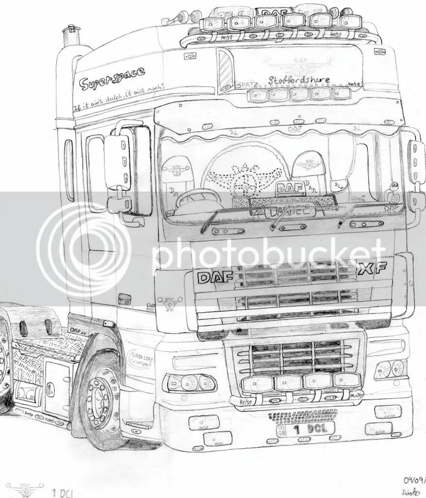 Vrachtwagen Daf Xf Kleurplaat Malvorlagen DAF Austria GmbH