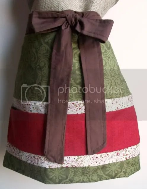 christmas baking apron