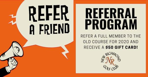 Refer a full member to the old course for 2020 & receive a $50 gift card!