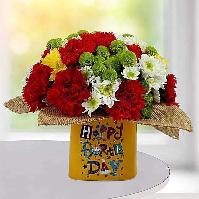 happy birthday flowers gift