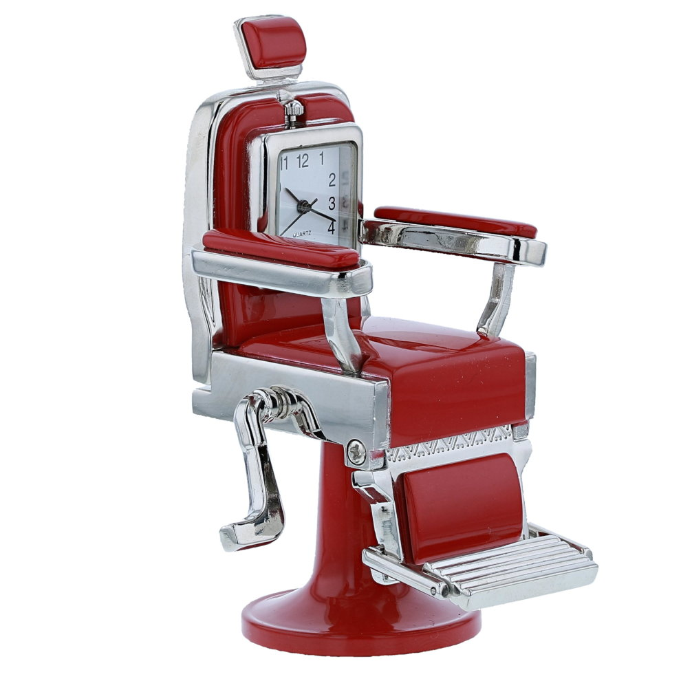 Red Barber Chair Miniature Red Barber Chair Novelty Quartz Movement Desktop Collectors Clock Tm8