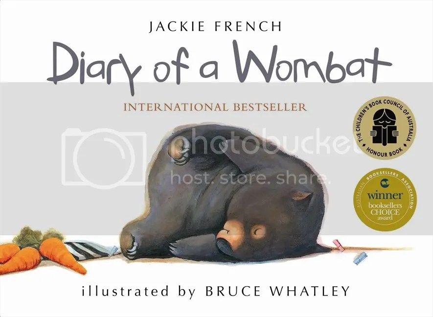 Diary of a Wombat board book cover
