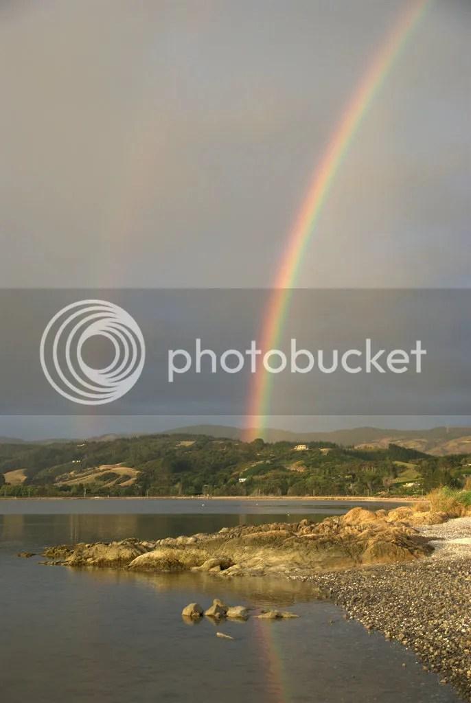 reflected double rainbow