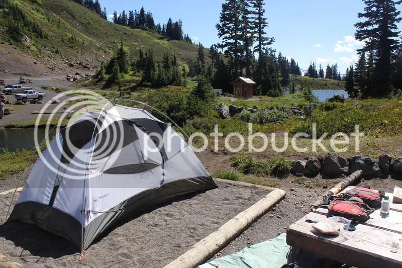 Twin Lakes campsite