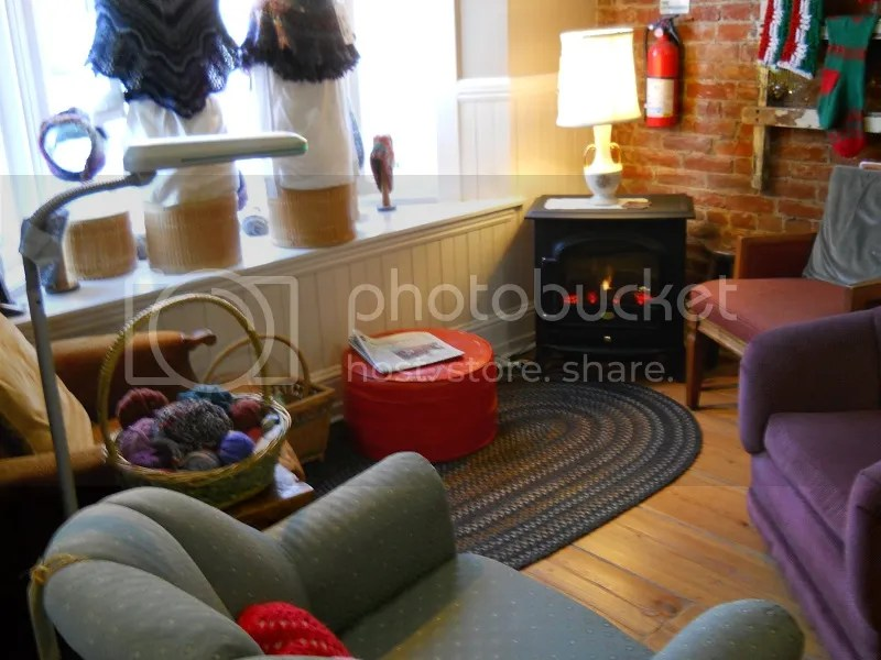 spin a yarn cozy knitting area
