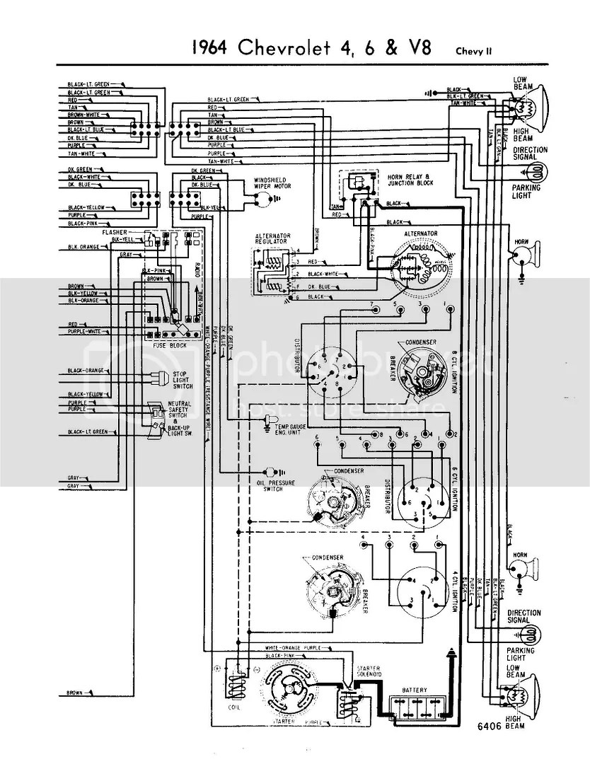 hight resolution of 64 chevy ii steering column wiring diagram chevy nova forum rh stevesnovasite com gm points ignition