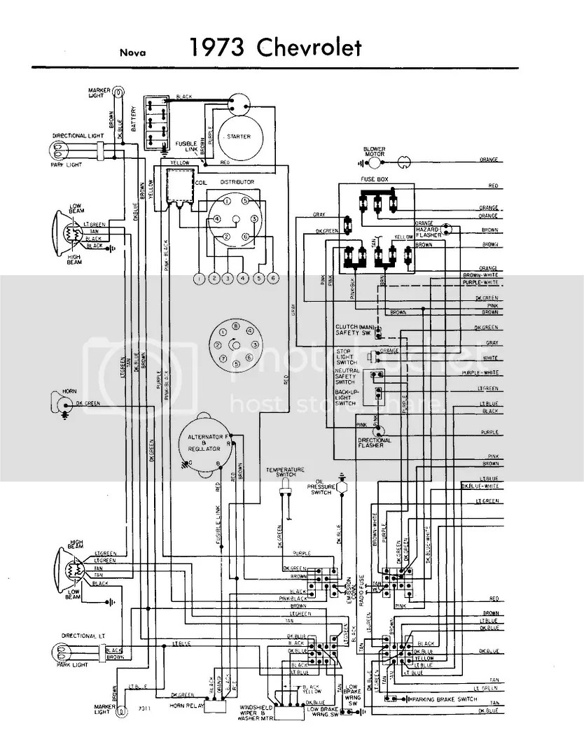1973 Chevy Nova Wiring Harness Diagram - Wiring Diagram Site on
