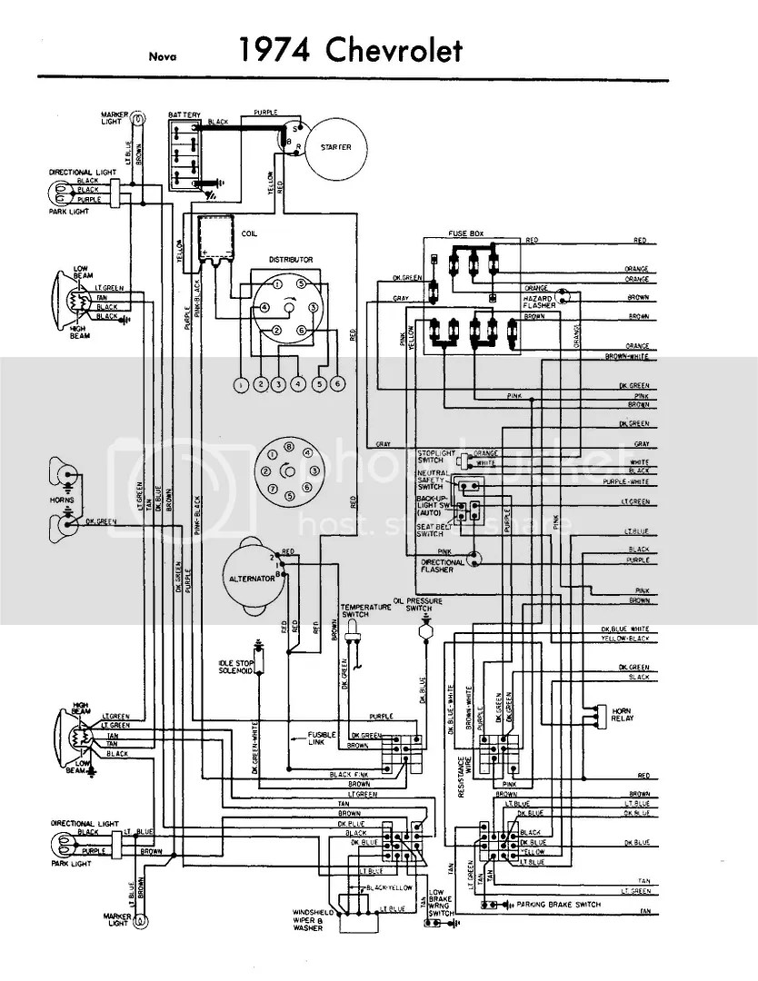 74 Nova Fuse DiagramWiring And Fuse Image