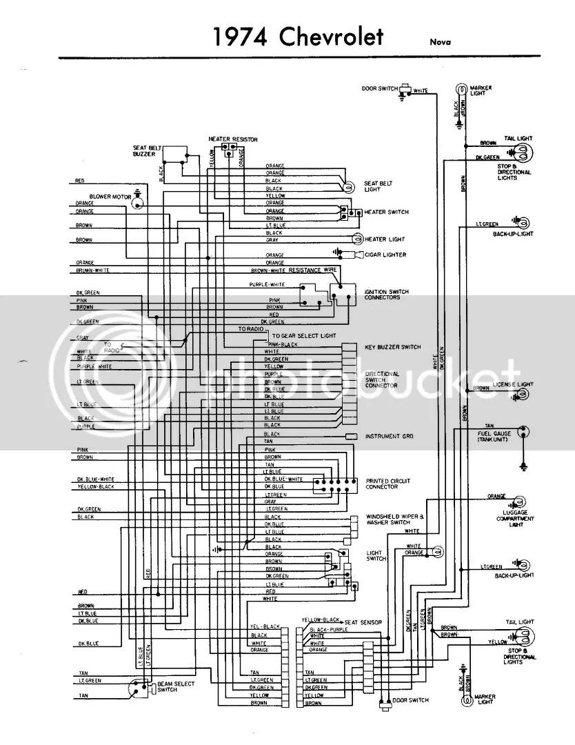 74 Nova Wiring Harnes Diagram Schematic