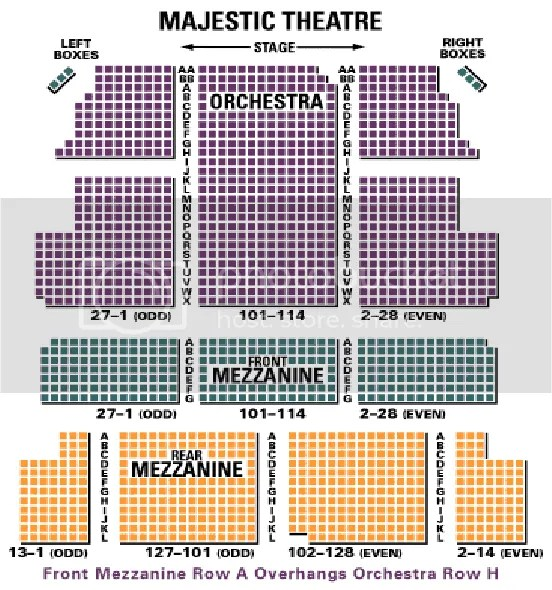 Majestic Theater New York Seating Map Www