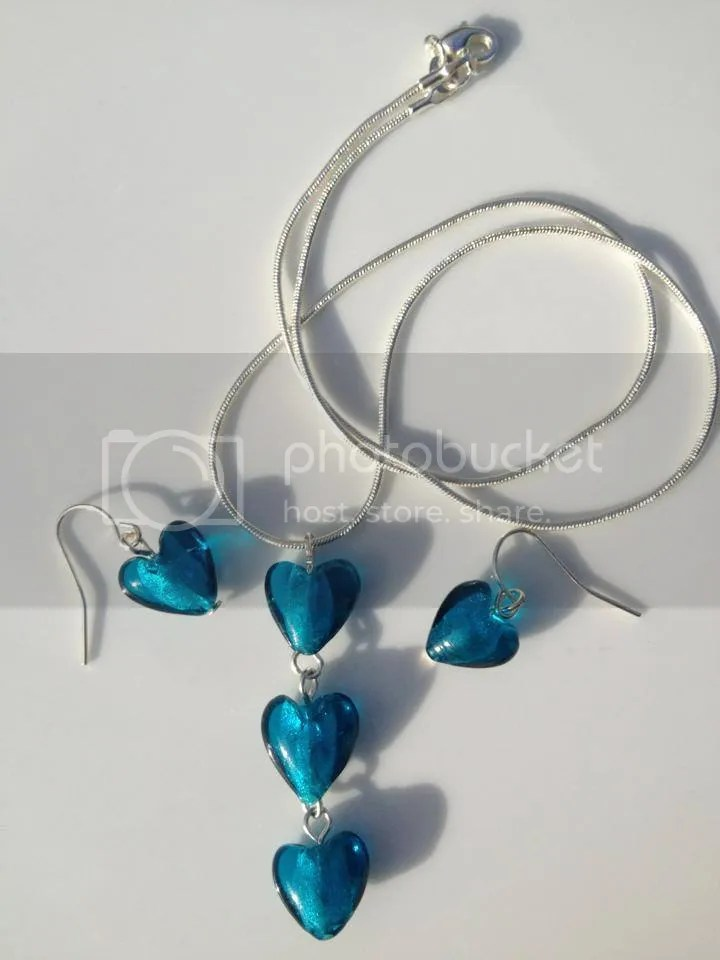 Shellybobbins Blue Beaded Necklace and Earring Jewellery