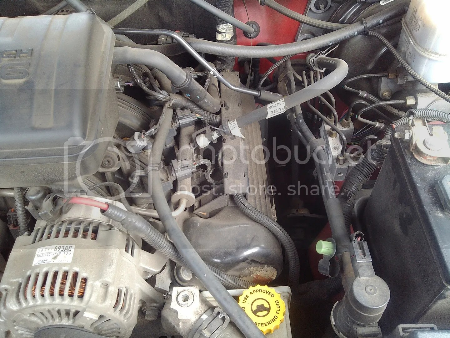 hight resolution of wrg 1887 jeep liberty engine hose diagramjeep liberty power steering hoses and reservoir this image