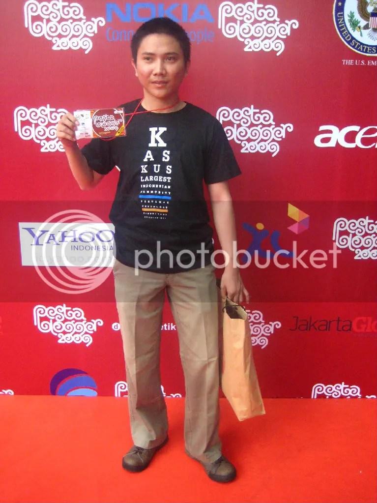 Achen, salah satu kaskuser yang hadir di Pesta Blogger 2009