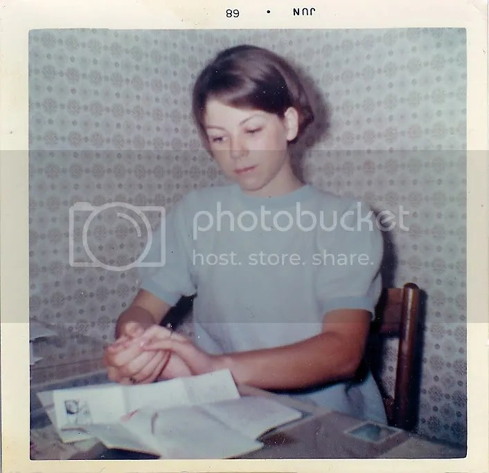 Mom wearing her ring (she was 17 at the time!)
