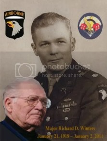 Image result for major richard winters funeral