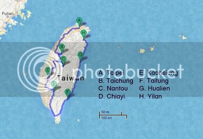 My Taiwan Itinerary: Taipei, Taichung, Nantou, Chiayi, Kaohsiung, Taitung, Hualien, Yilan