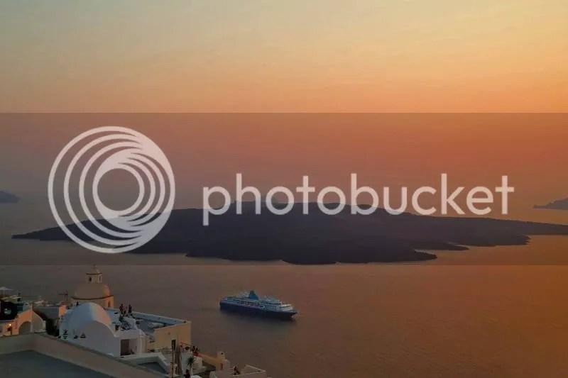 Sunset at Fira, Santorini, Greece
