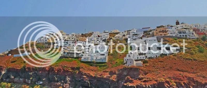 Imerovigli as seen from Skaros Rock, Santorini, Greece
