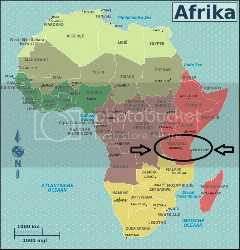 Finding Tanzania on the map of Africa