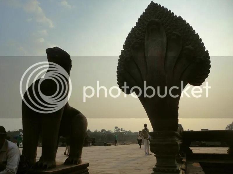 Inside Angkor Wat, Siem Reap, Cambodia