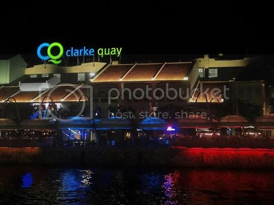 Clarke Quay as seen during Singapore River Cruise
