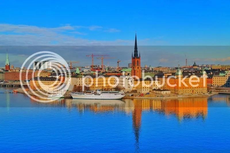 Gamla Stan as seen from Monteliusvägen, Stockholm, Sweden