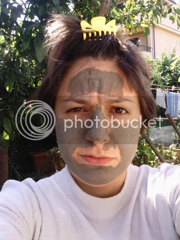 me- maschera di argilla