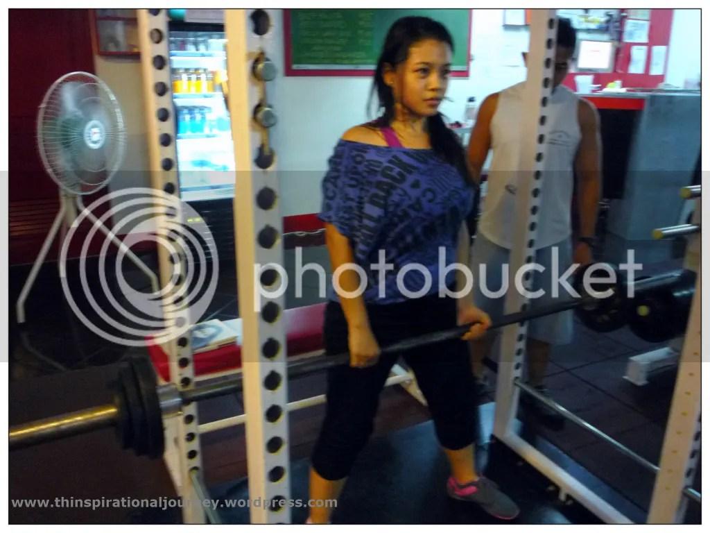 Lara Novales Eclipse Gym Sumo Dead Lifts 80lbs