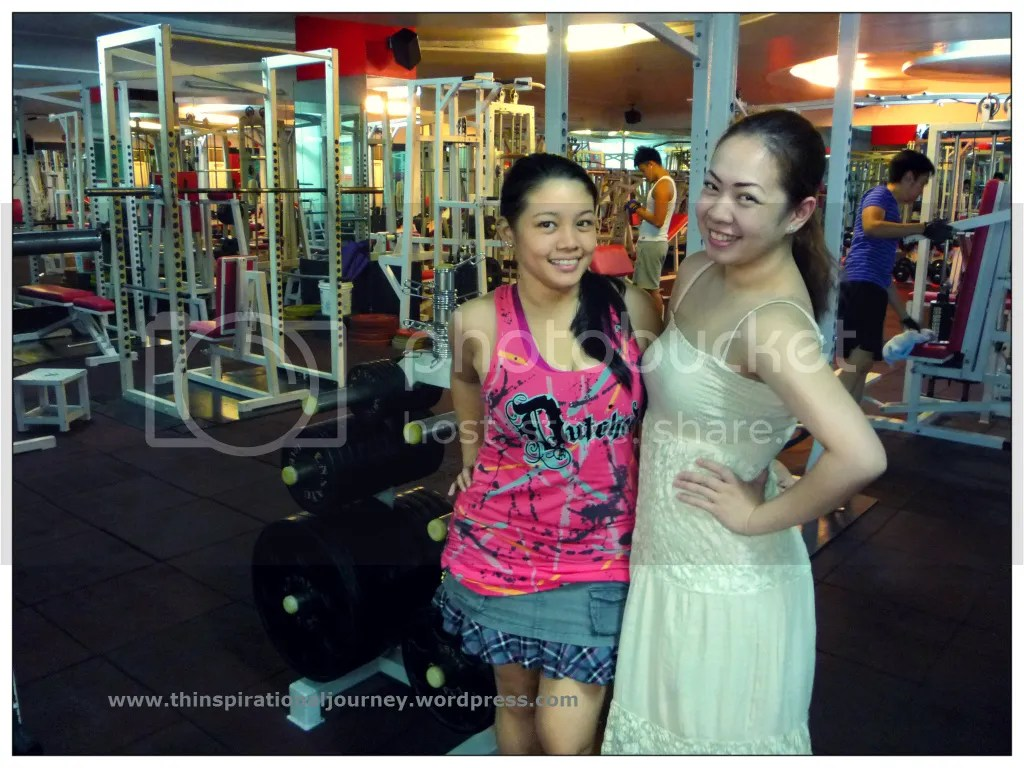 Lara Novales and Angela Balagtas at Eclipse Gym