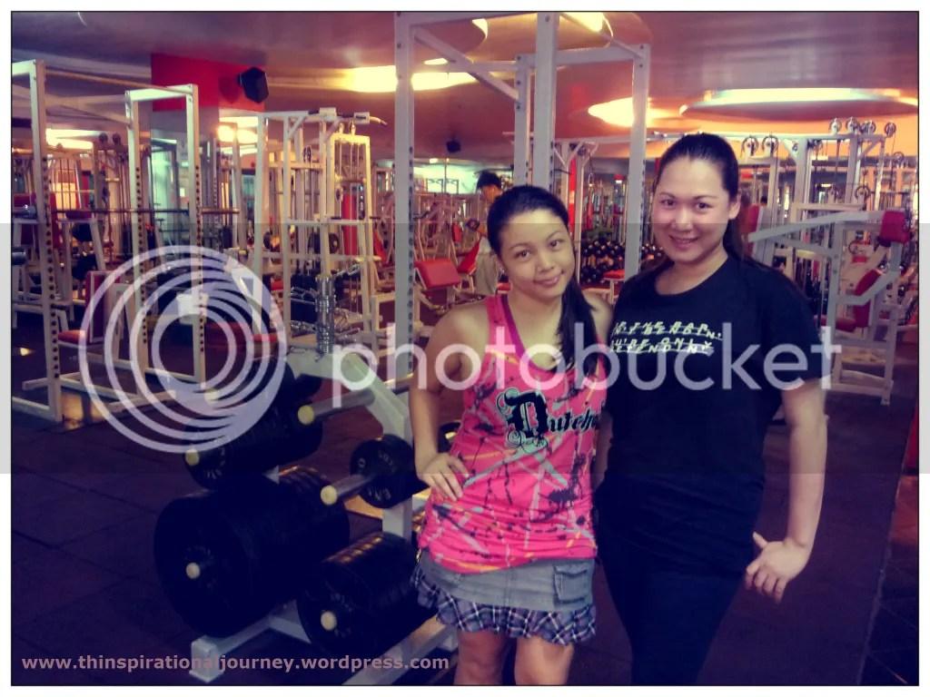 Lara Novales and Malou of Eclipse 24/7 Fitness Center Manila