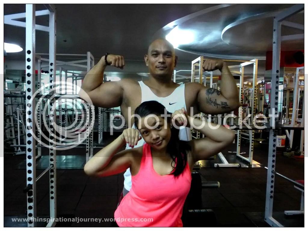 Lara Novales Carameldansen with Noel De Guia at Eclipse 24/7 Fitness center